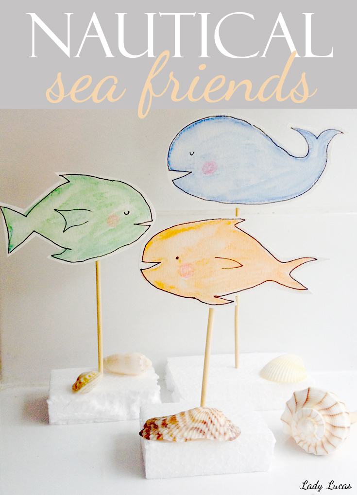 How to Make Nautical Sea Friends | Time to Create with Lady Lucas