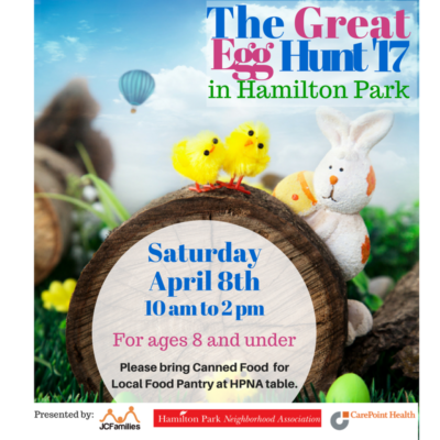 Easter Egg Hunt in Hamilton Park, Jersey City