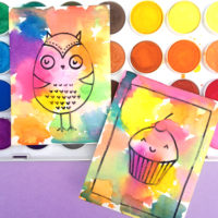 Holi Inspired Art Trading Cards