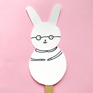 Cute Easter Bunny Puppet Craft for Kids by Lady Lucas for JCFamilies