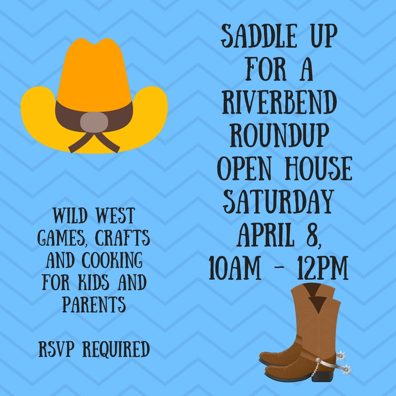 "Camp Riverbend ""Wild West"" Open House Saturday April 8"