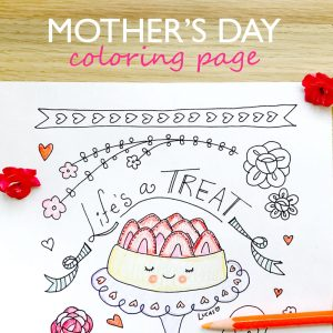 Mothers Day Coloring Page by Lady Lucas