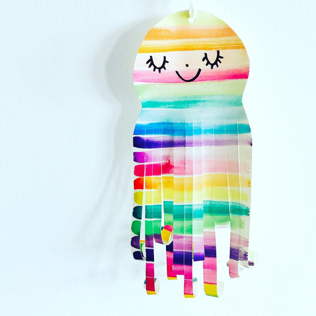 Rainbow Watercolor Jellyfish Craft by Lady Lucas for JCFamilies