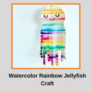 Watercolor Rainbow Jellyfish Craft