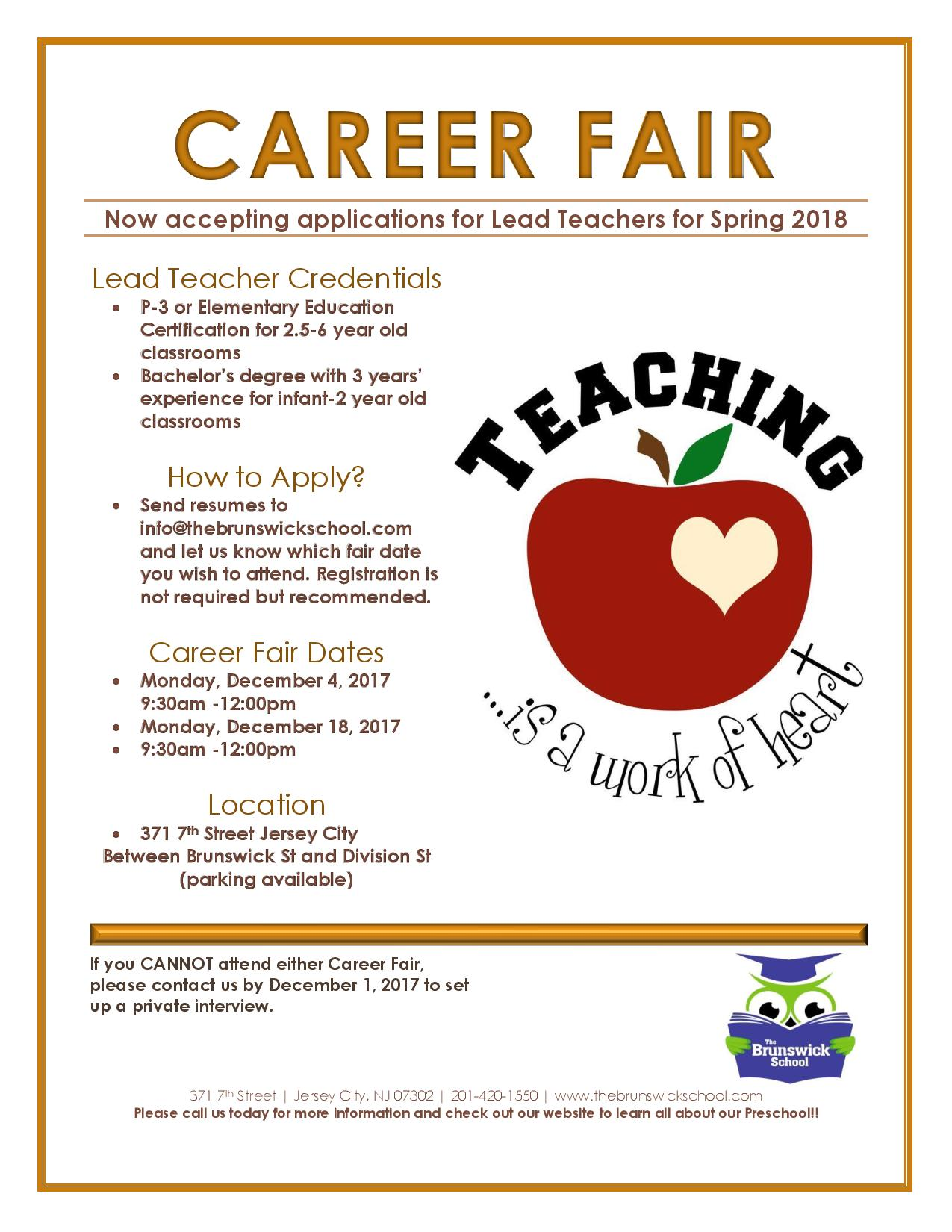 Career Fair at The Brunswick School in Jersey City