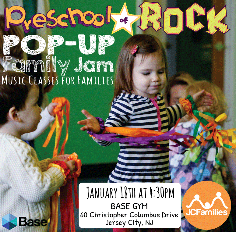 Preschool of Rock Pop up Family Jam in Downtown JC