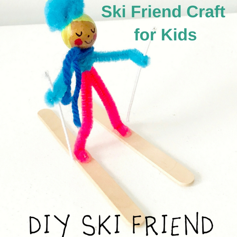 Ski Friend Craft for Kids
