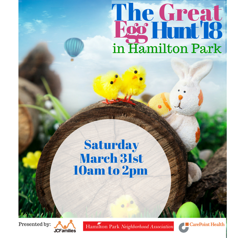 Great Egg Hunt in Hamilton Park, Jersey City(Free Event)