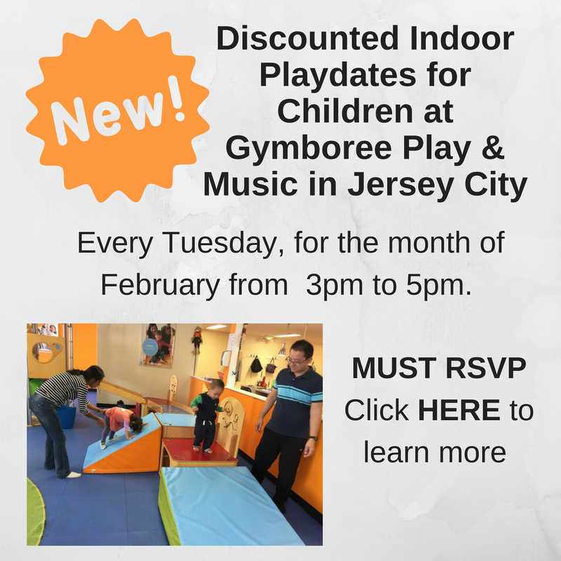 Play dates for JCFamilies' members at Gymboree Play & Music in Jersey City